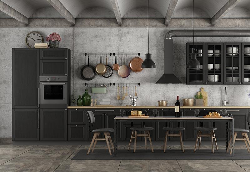 Black Kitchen Remodel