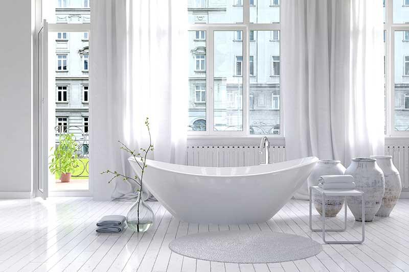 White Bathroom Makeover